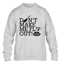 Don't make me flip out children's grey sweater 12-13 Years