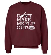 Don't make me flip out adult's unisex maroon sweater 2XL