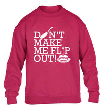 Don't make me flip out children's pink sweater 12-13 Years