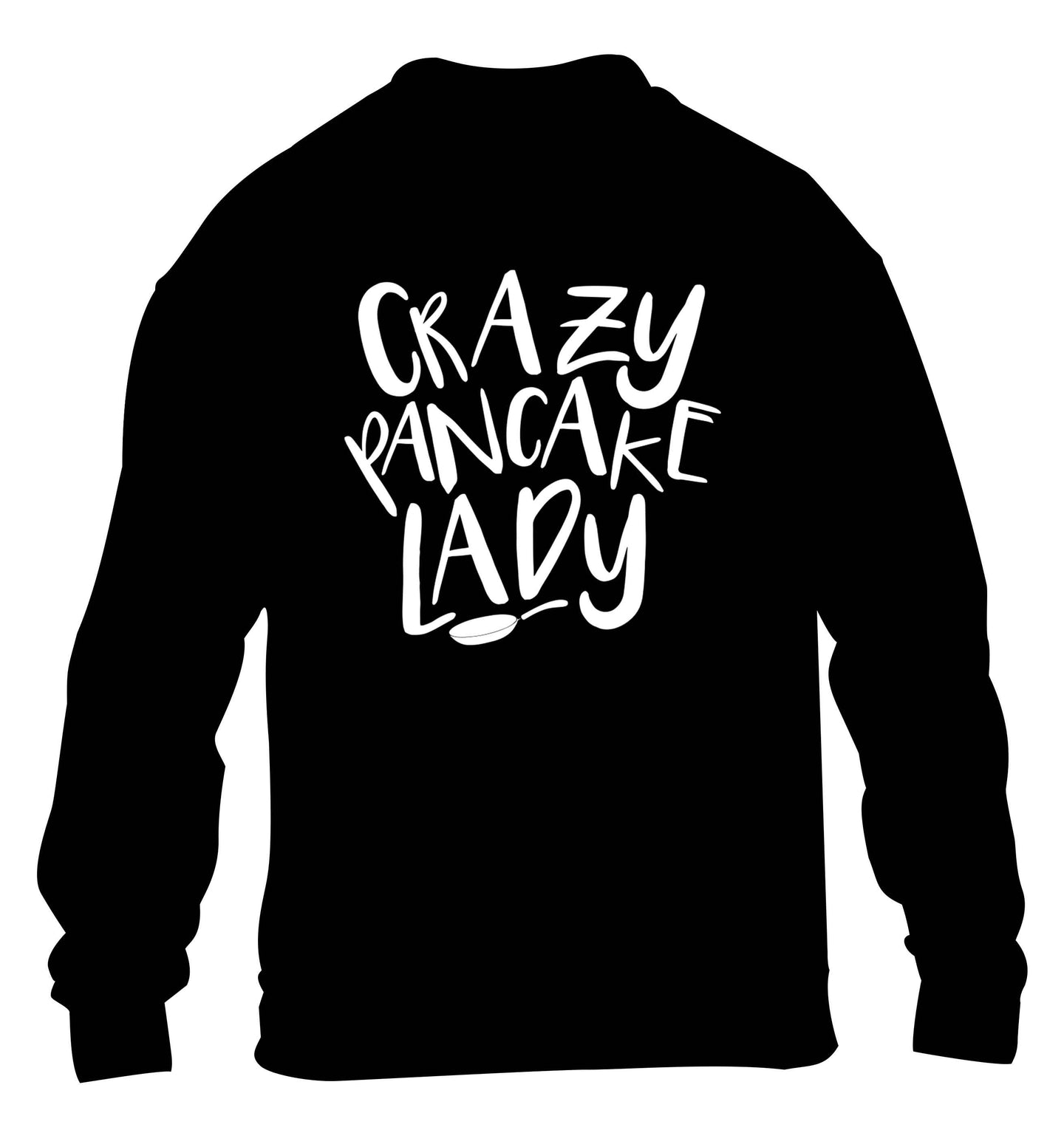 Crazy pancake lady children's black sweater 12-13 Years