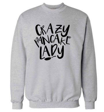Crazy pancake lady adult's unisex grey sweater 2XL