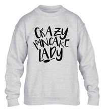 Crazy pancake lady children's grey sweater 12-13 Years