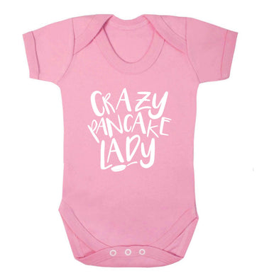 Crazy pancake lady baby vest pale pink 18-24 months