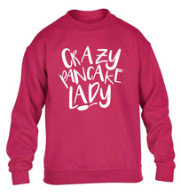 Crazy pancake lady children's pink sweater 12-13 Years
