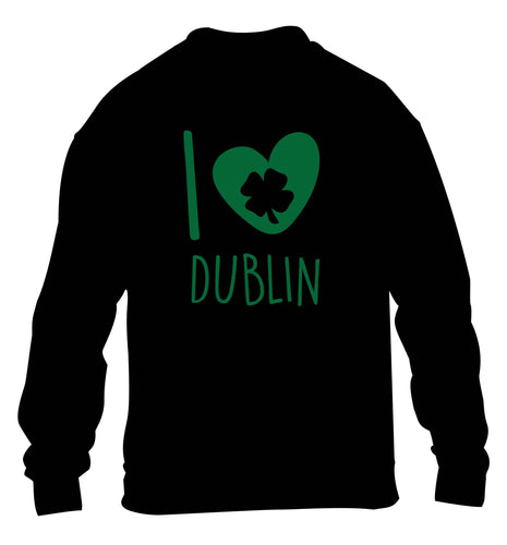 I love Dublin children's black sweater 12-13 Years
