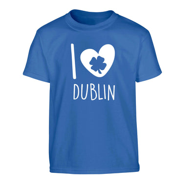 I love Dublin Children's blue Tshirt 12-13 Years