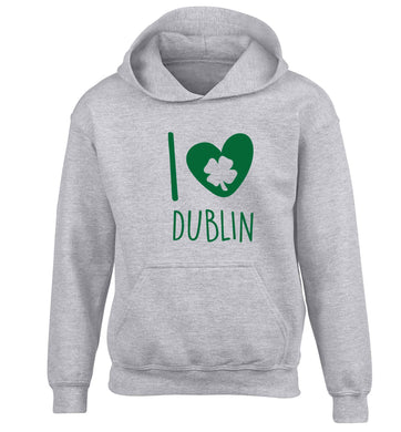 I love Dublin children's grey hoodie 12-13 Years