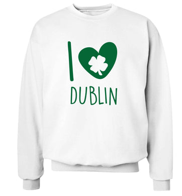 I love Dublin adult's unisex white sweater 2XL
