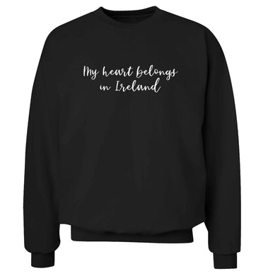 My heart belongs in Ireland adult's unisex black sweater 2XL