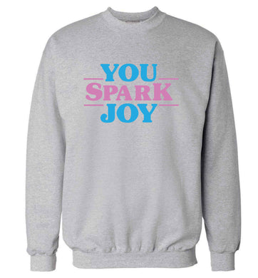 You spark joy adult's unisex grey sweater 2XL