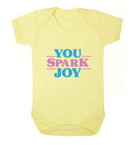 You spark joy baby vest pale yellow 18-24 months