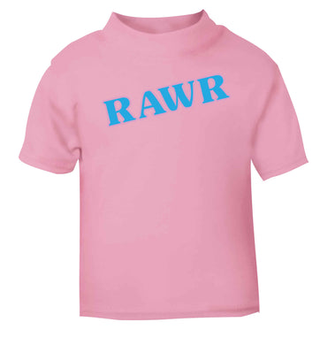 Rawr light pink baby toddler Tshirt 2 Years
