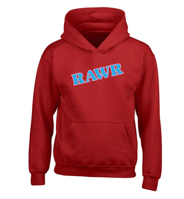 Rawr children's red hoodie 12-13 Years