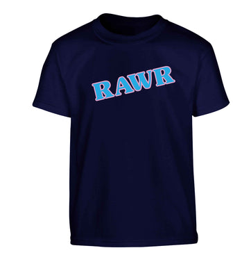 Rawr Children's navy Tshirt 12-13 Years