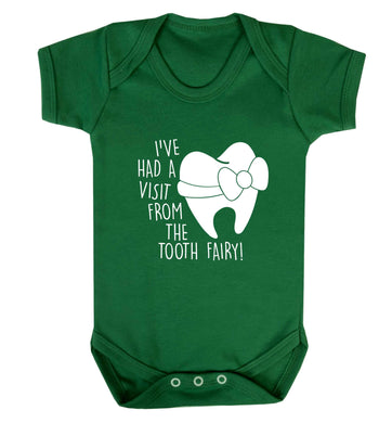 Visit From Tooth Fairy baby vest green 18-24 months