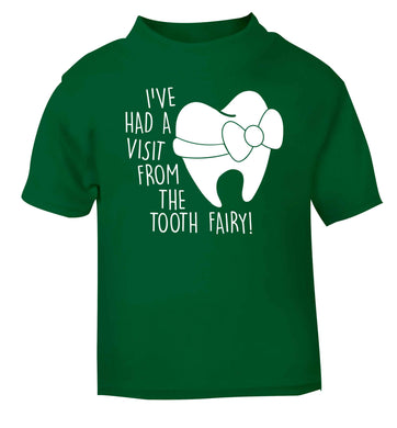 Visit From Tooth Fairy green baby toddler Tshirt 2 Years