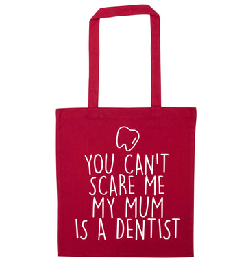 Minty Kisses Tooth Fairy (a) red tote bag