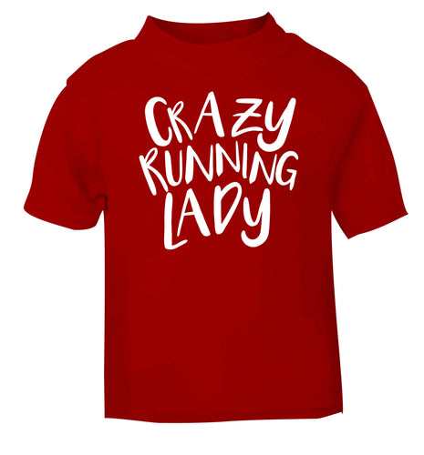 Crazy running lady red baby toddler Tshirt 2 Years