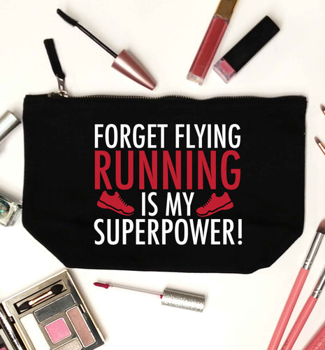 Crazy running dude black makeup bag