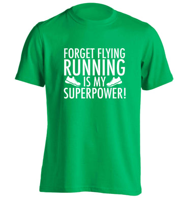 Crazy running dude adults unisex green Tshirt 2XL