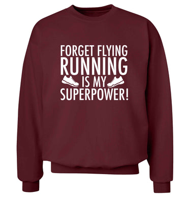 Crazy running dude adult's unisex maroon sweater 2XL