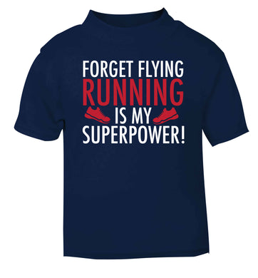 Crazy running dude navy baby toddler Tshirt 2 Years
