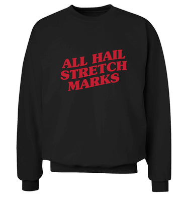 All hail stretch marks adult's unisex black sweater 2XL