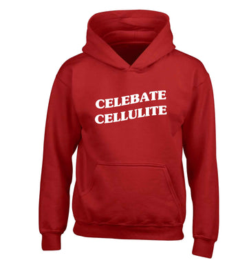 Celebrate cellulite children's red hoodie 12-13 Years