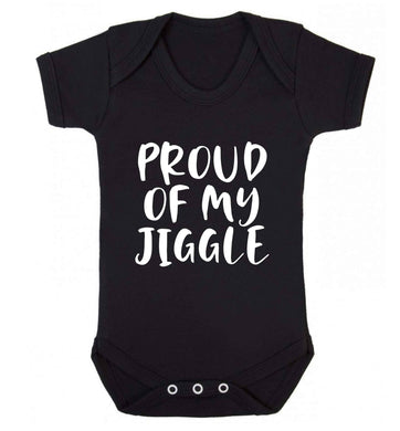 Proud of my jiggle baby vest black 18-24 months