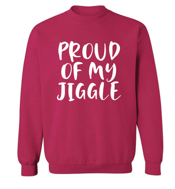 Proud of my jiggle adult's unisex pink sweater 2XL