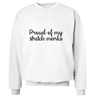 Proud of my stretch marks adult's unisex white sweater 2XL
