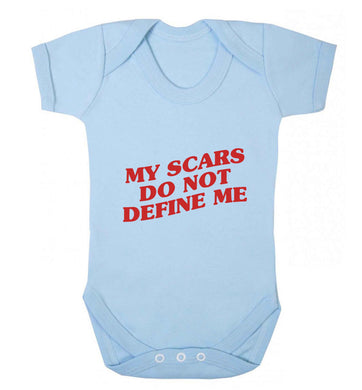 My scars do not define me baby vest pale blue 18-24 months