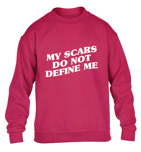 My scars do not define me children's pink sweater 12-13 Years