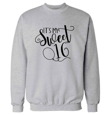 It's my sweet 16thadult's unisex grey sweater 2XL