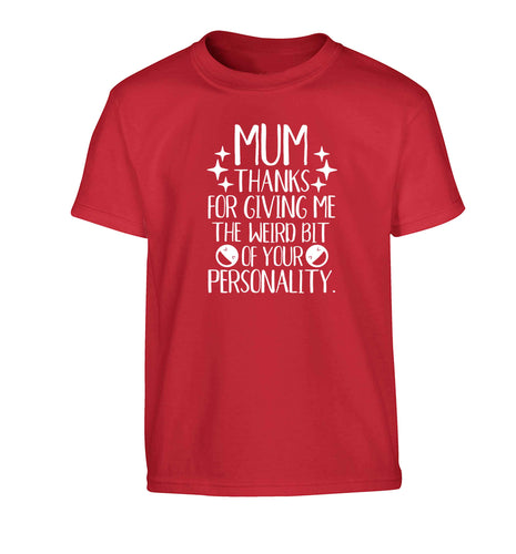 Mum, I love you more than halloumi and if you know me at all you know how deep that is Children's red Tshirt 12-13 Years