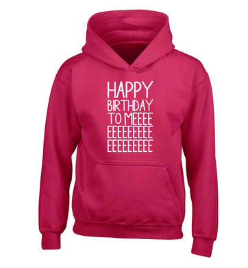 Happy birthday to me children's pink hoodie 12-13 Years
