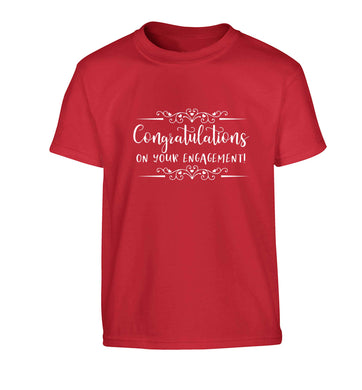 Congratulations on your engagement Children's red Tshirt 12-13 Years