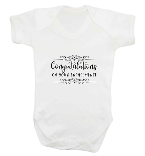 Congratulations on your engagement baby vest white 18-24 months