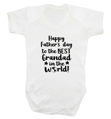 Happy Father's day to the best grandad in the world baby vest white 18-24 months