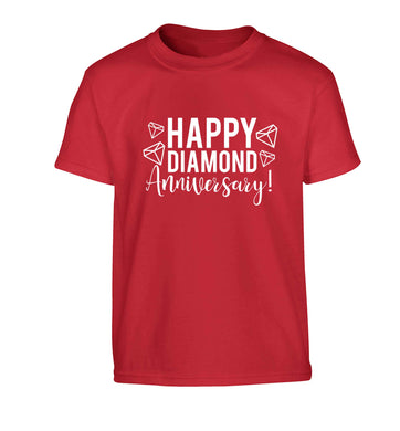 Happy diamond anniversary! Children's red Tshirt 12-13 Years