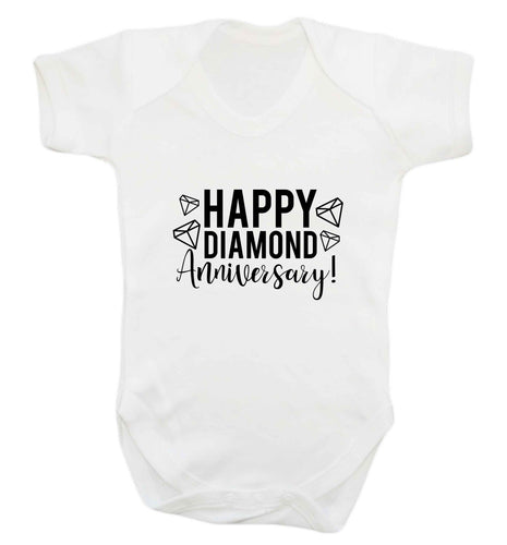 Happy diamond anniversary! baby vest white 18-24 months