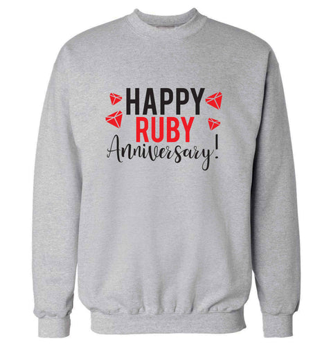 Happy ruby anniversary! adult's unisex grey sweater 2XL
