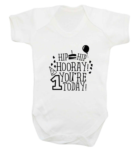 You're one today baby vest white 18-24 months