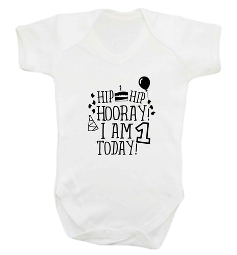 I am One Today baby vest white 18-24 months