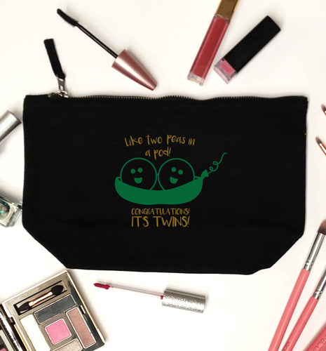 Like two peas in a pod! Congratulations it's twins! black makeup bag