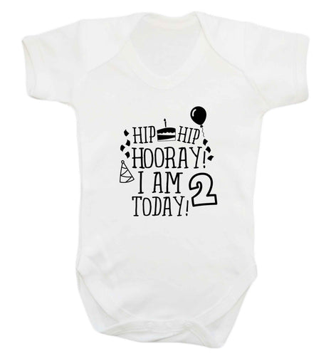 I'm 2 Today baby vest white 18-24 months