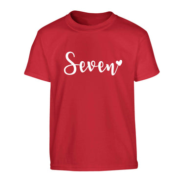 Seven and heart Children's red Tshirt 12-13 Years