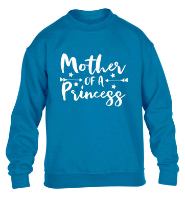 Mother of a princess children's blue sweater 12-13 Years