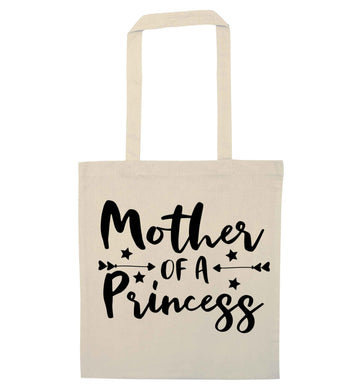 Mother of a princess natural tote bag