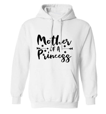 Mother of a princess adults unisex white hoodie 2XL